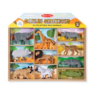 Safarivänner - 10 safaridjur i en låda