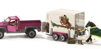 Bil med hästbox (Schleich)