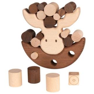 Balansspel i trä - älg (Goki Nature)