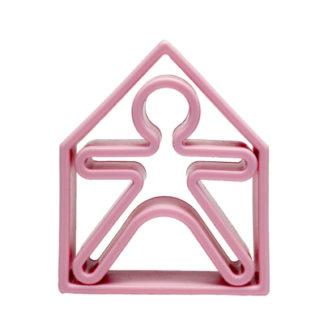 1 barn + 1 hus i silikon (ljusrosa, Dëna)