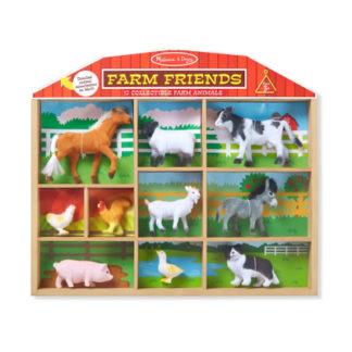 Bondgårdsvänner - 10 bondgårdsdjur i en låda
