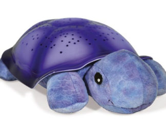 Twilight Turtle nattlampa med stjärnhimmel (lila, Cloud b)