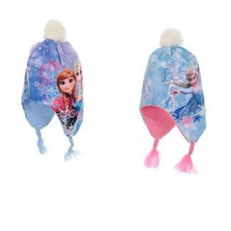 Disney Frost mössa med 2 flätor